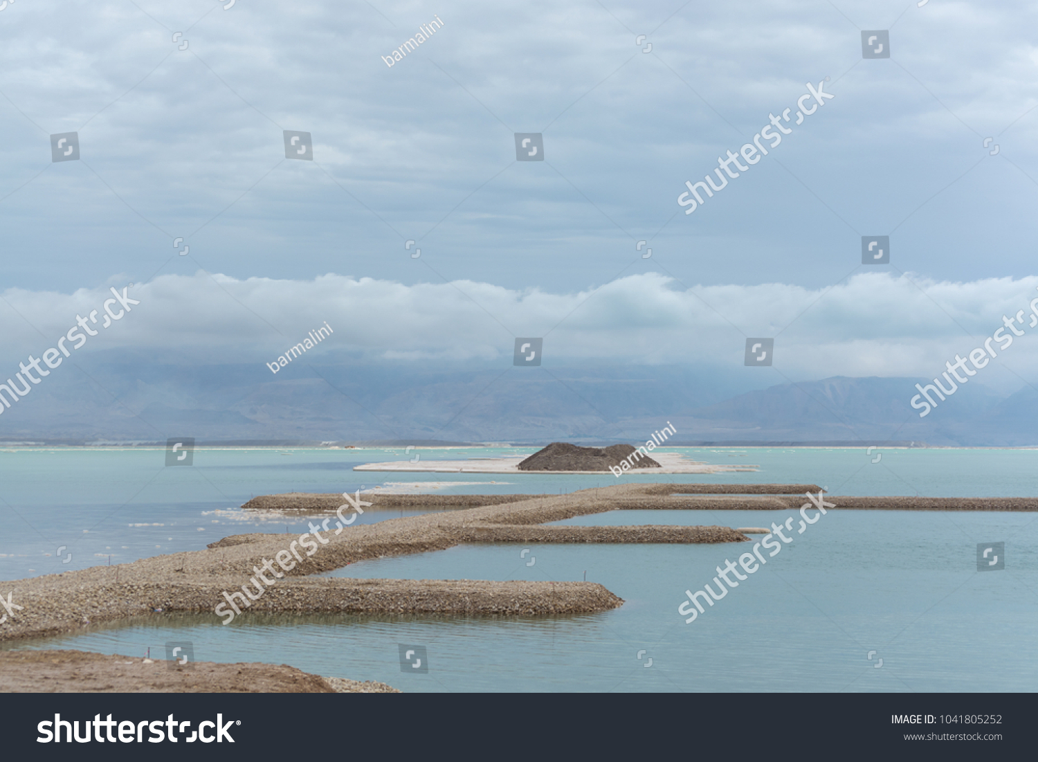 Lowest Salty Lake World Below Sea Stock Photo (Edit Now