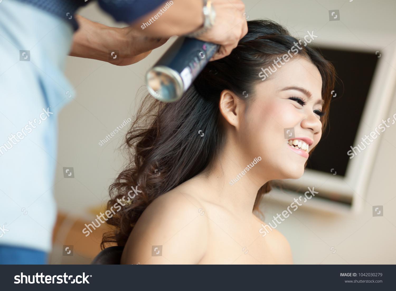 Wedding Makeup Artist Making Make Hair Stock Photo Edit Now