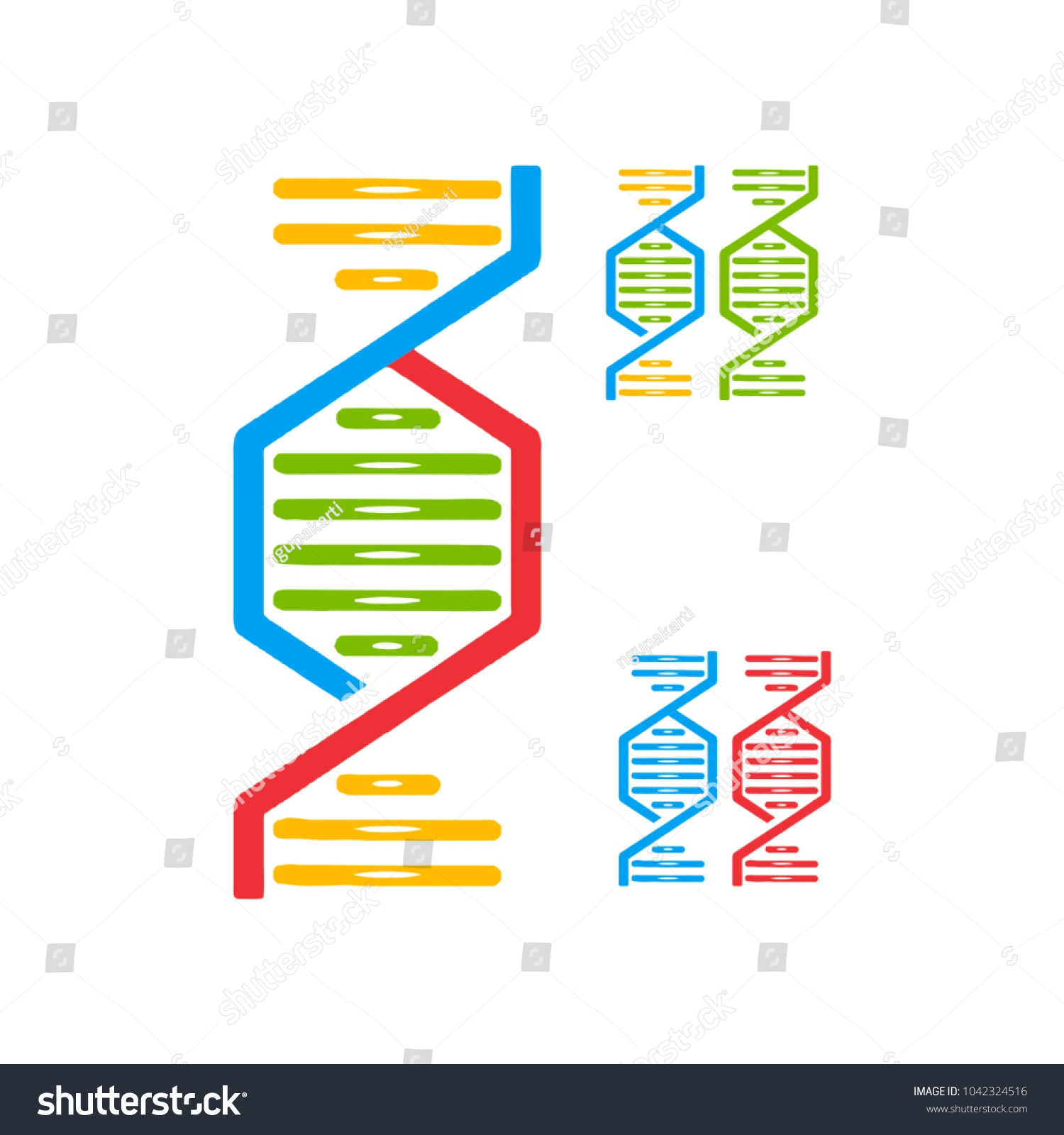 dna logo creative unique shape template のベクター画像素材