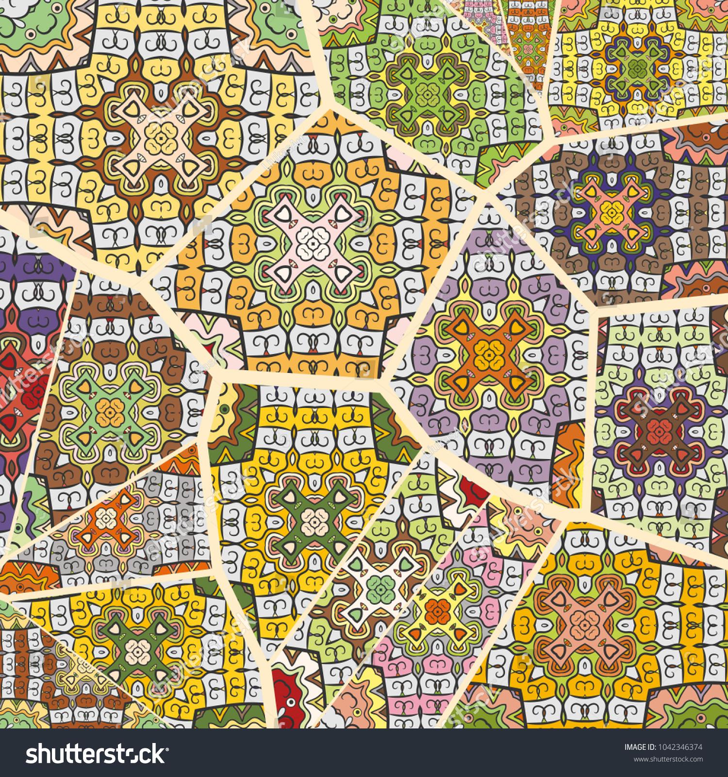 Vector patchwork quilt pattern vintage decorative stock vector vector patchwork quilt pattern vintage decorative elements hand drawn background indian arabic gumiabroncs Gallery