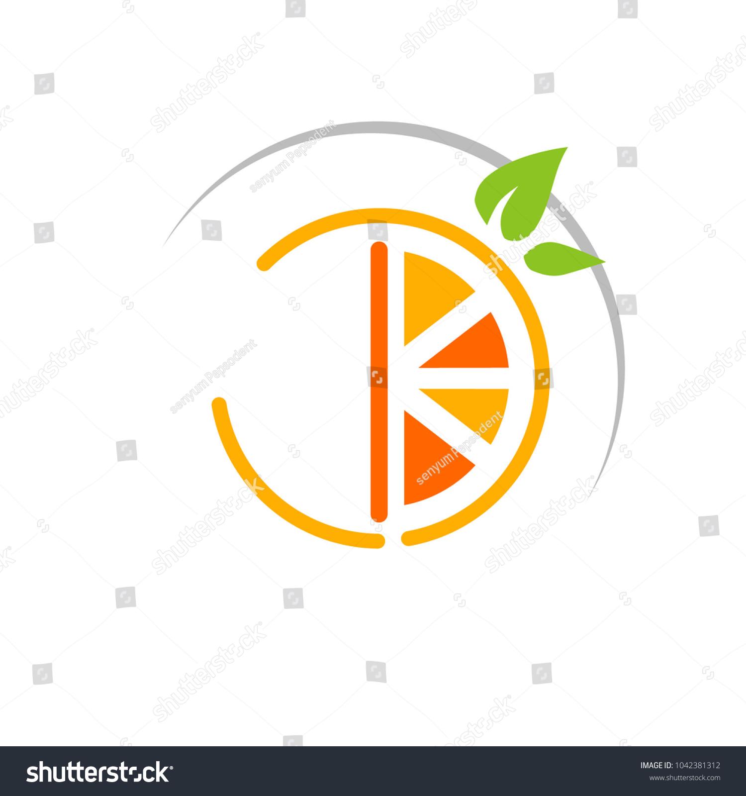 Orange Symbol Vitamin C Icon Stock Vector Royalty Free 1042381312