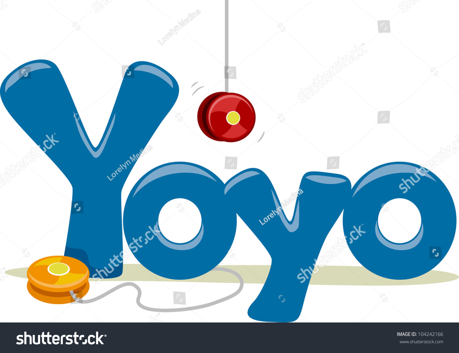 Text Illustration Featuring Word Yoyo Stock Vector 104242166 ... for Clipart Yoyo  45jwn