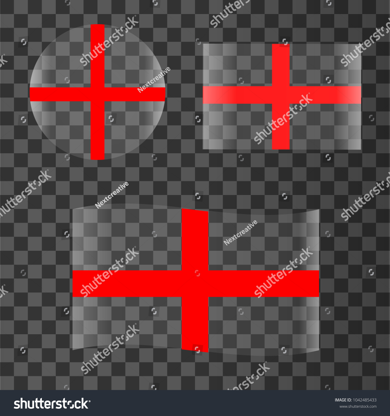 Original Simple Republic England Flag Isolated Stock Vector ...