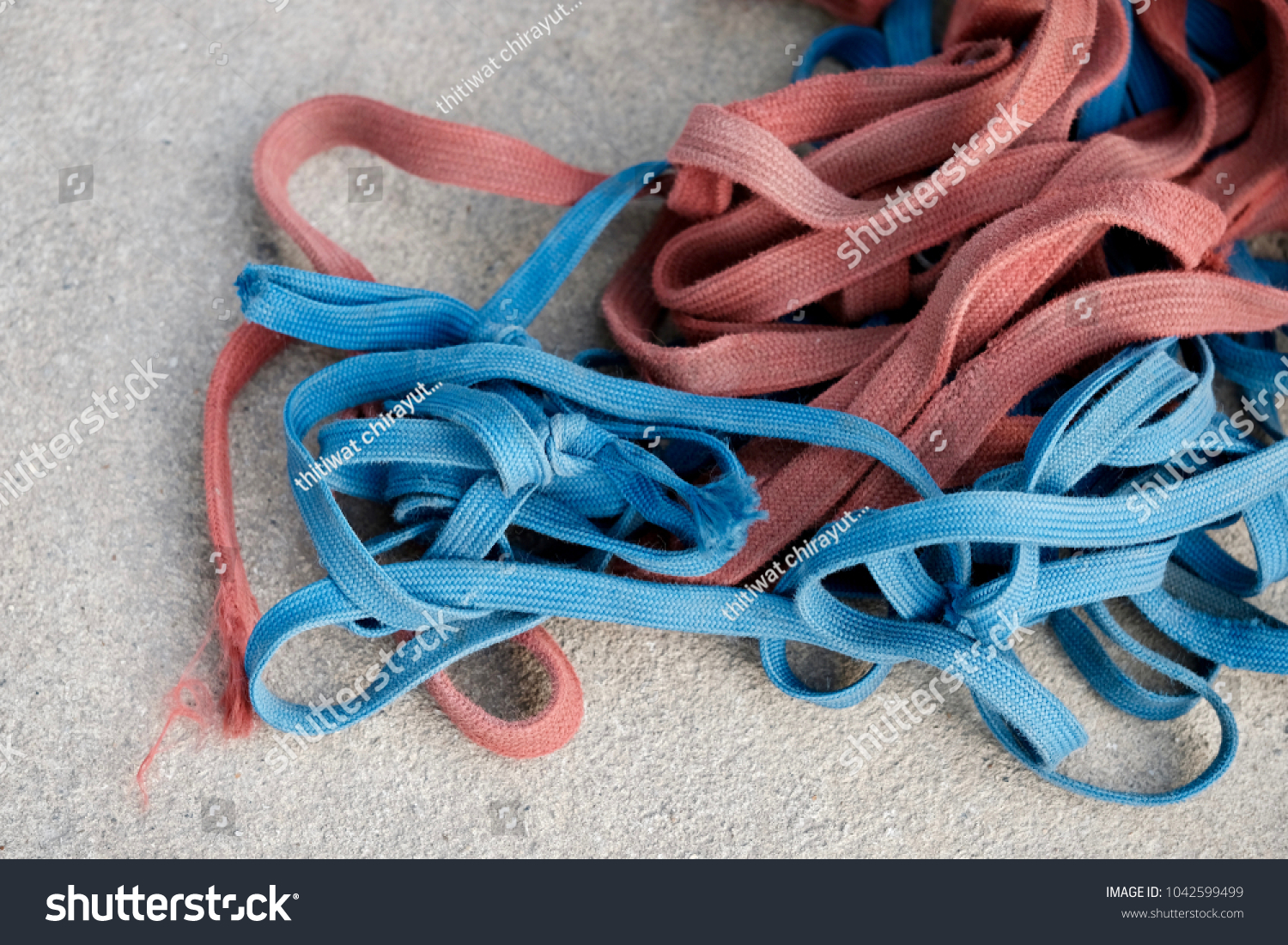 Multicolored Shoelaces On Cement Background Stock Photo (Edit Now ...