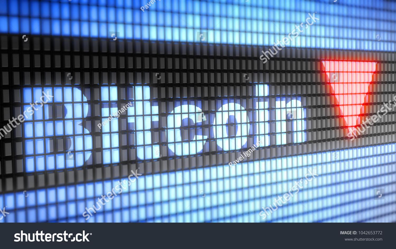 Index Bitcoin On Screen 3d Illustration Stock Illustration