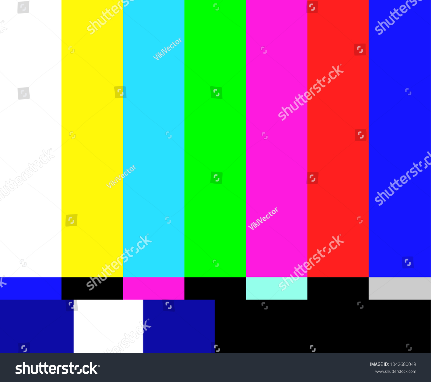 No Signal Poster Colorful Error Message Stock Vector Royalty Free