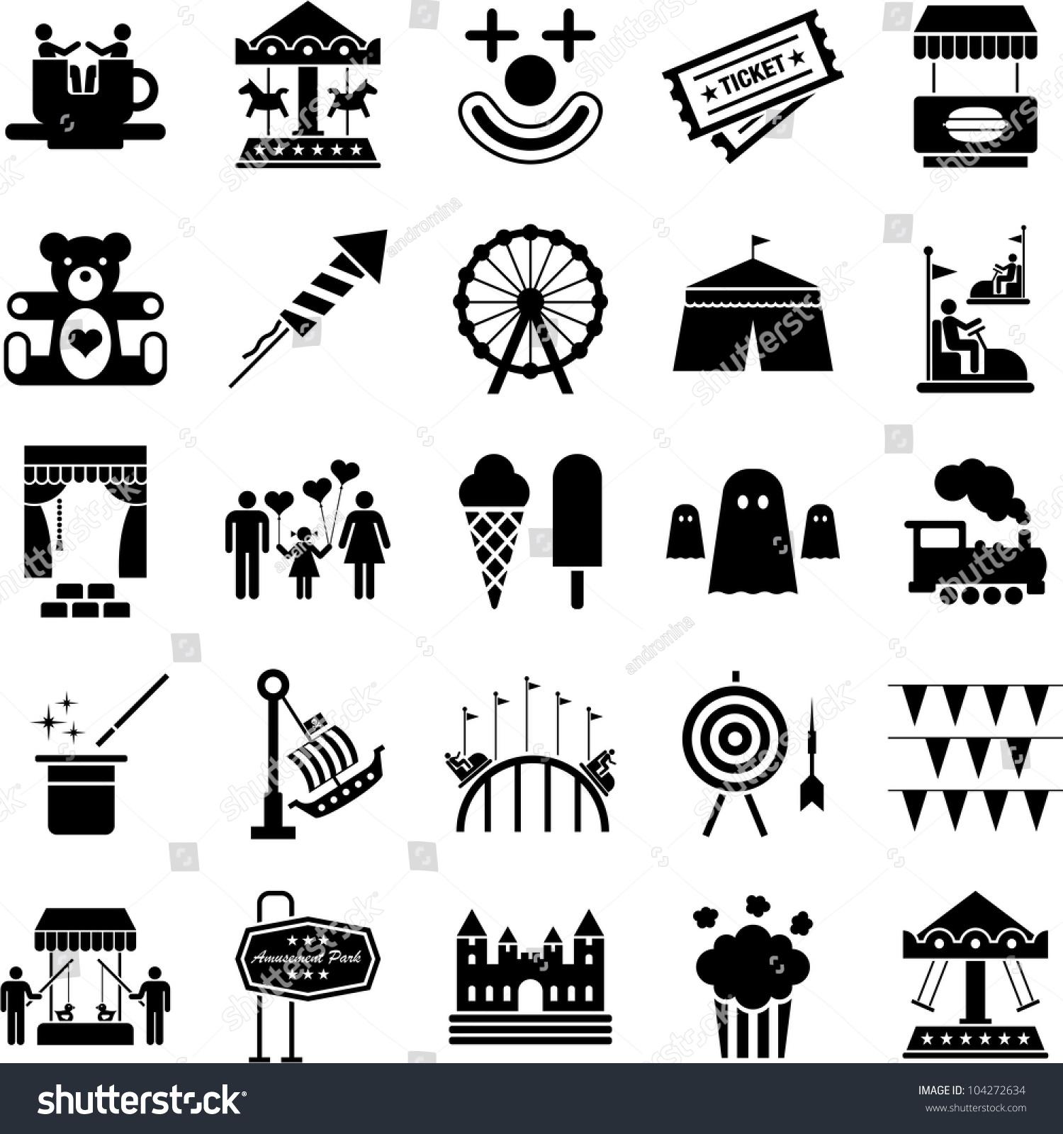 Amusement Park Icons S...