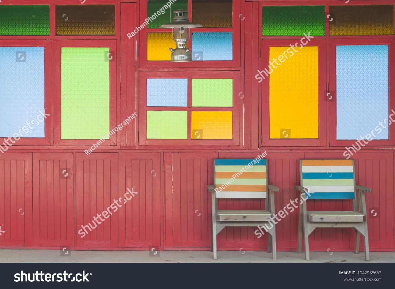 Color Windows Glass Thai House Style Stock Photo (Edit Now ...