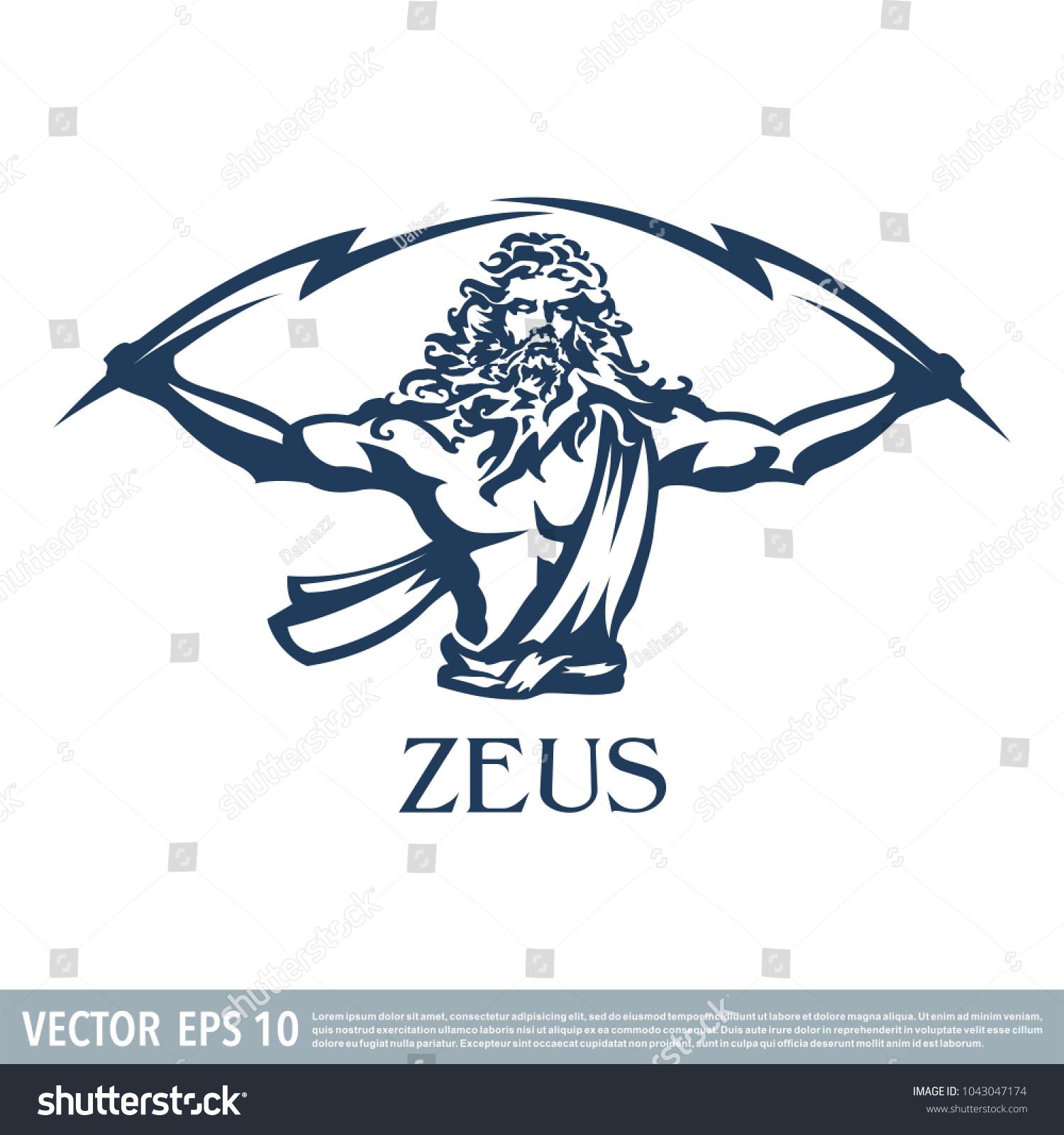 Zeus vector illustration stock vector 1043047174 shutterstock zeus vector illustration biocorpaavc Images