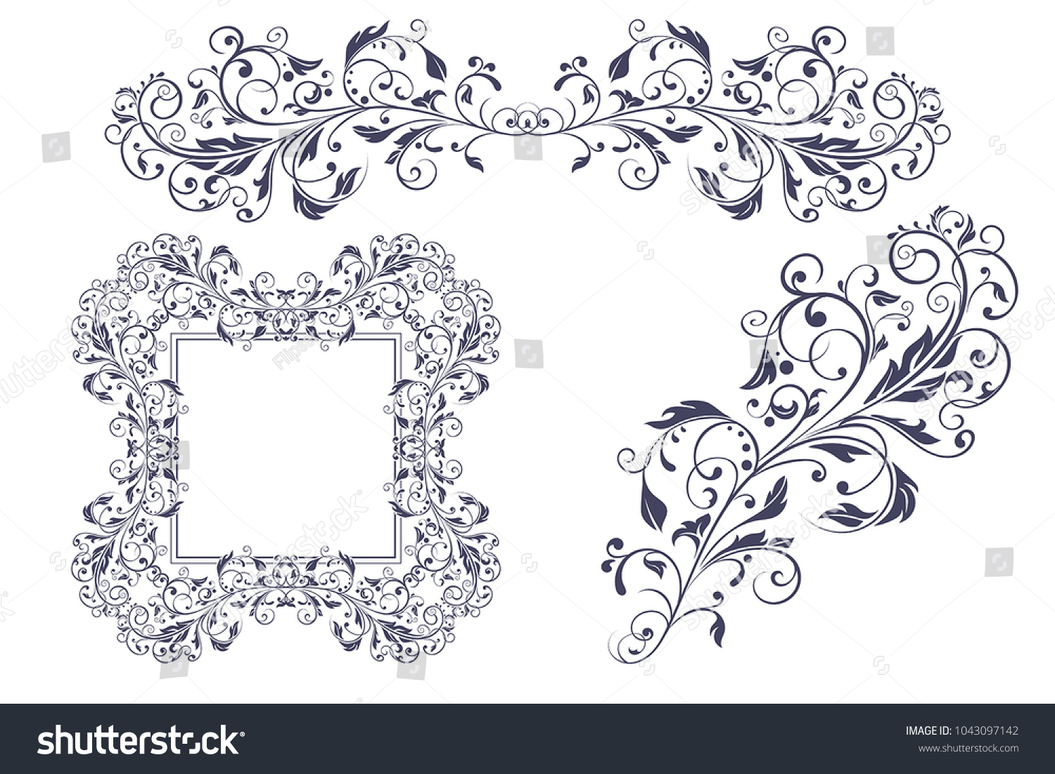 Floral decorative frame ornaments wedding invitation stock vector floral decorative frame and ornaments wedding invitation decoration vector illustration isolated on white background stopboris Gallery