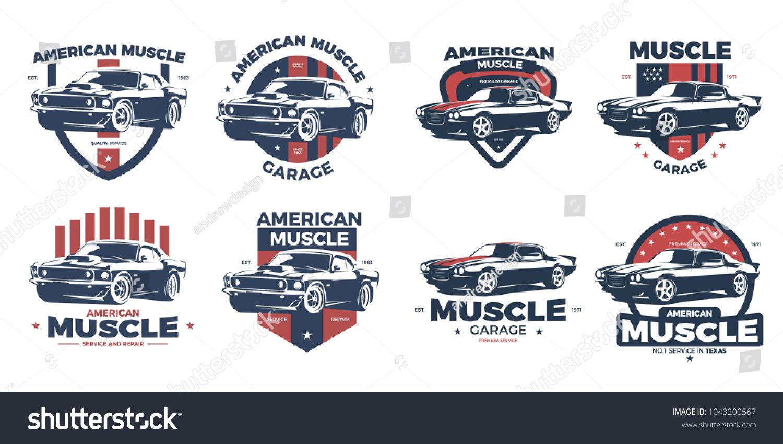 American Muscle Car Logo Design This Logo Stock Vector Royalty Free