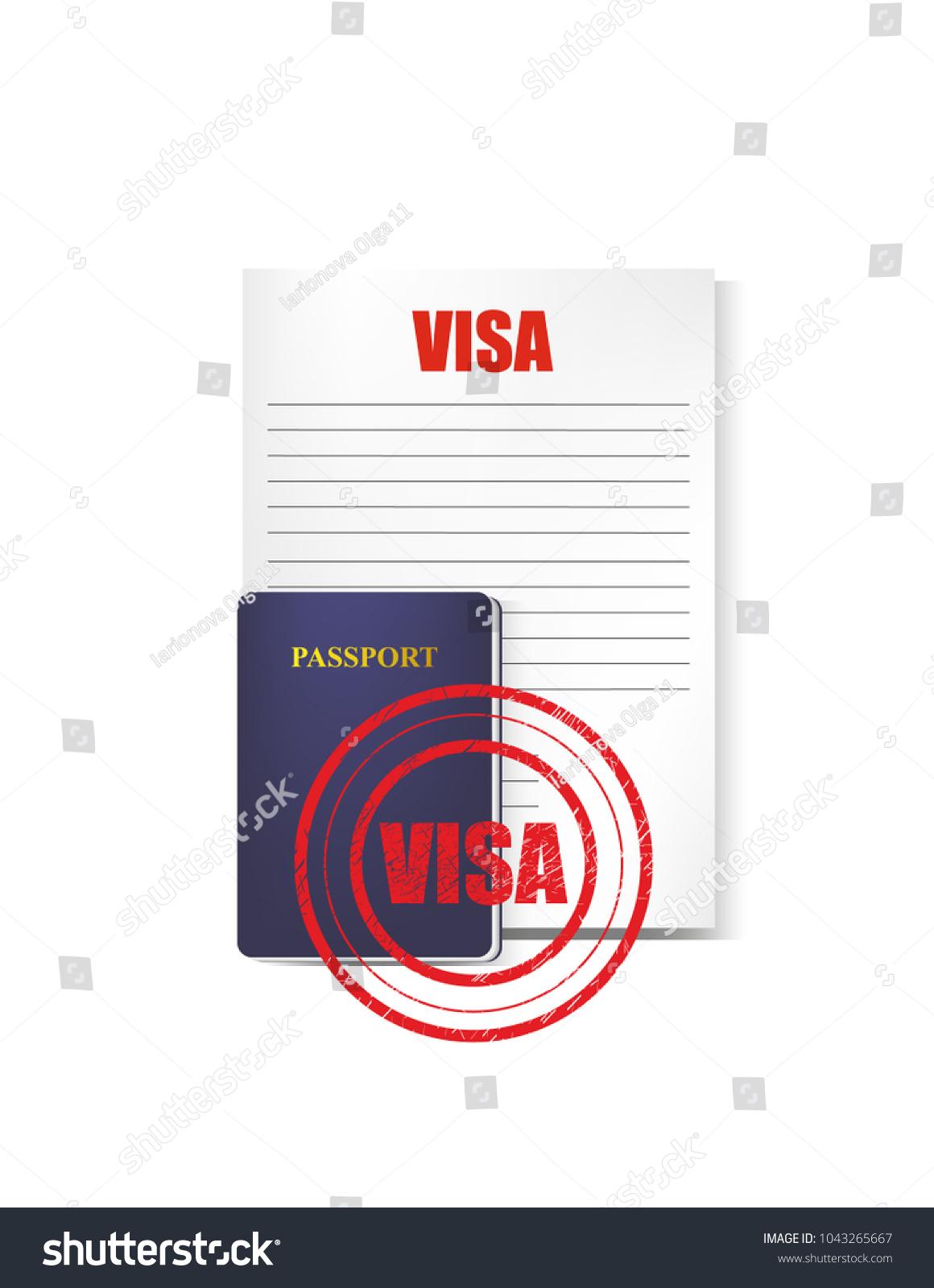 Visa stamp form stock vector 1043265667 shutterstock visa stamp form biocorpaavc Choice Image