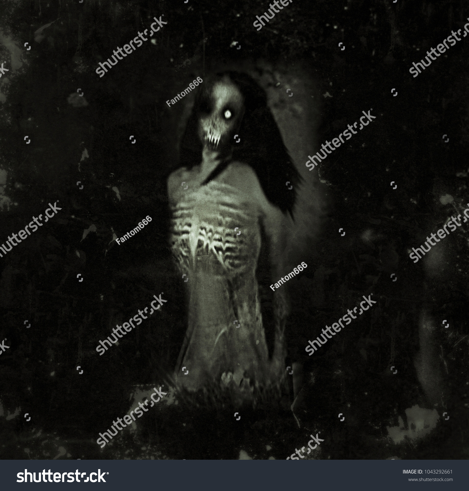 horror spooky wallpaper scary ghost woman stock illustration