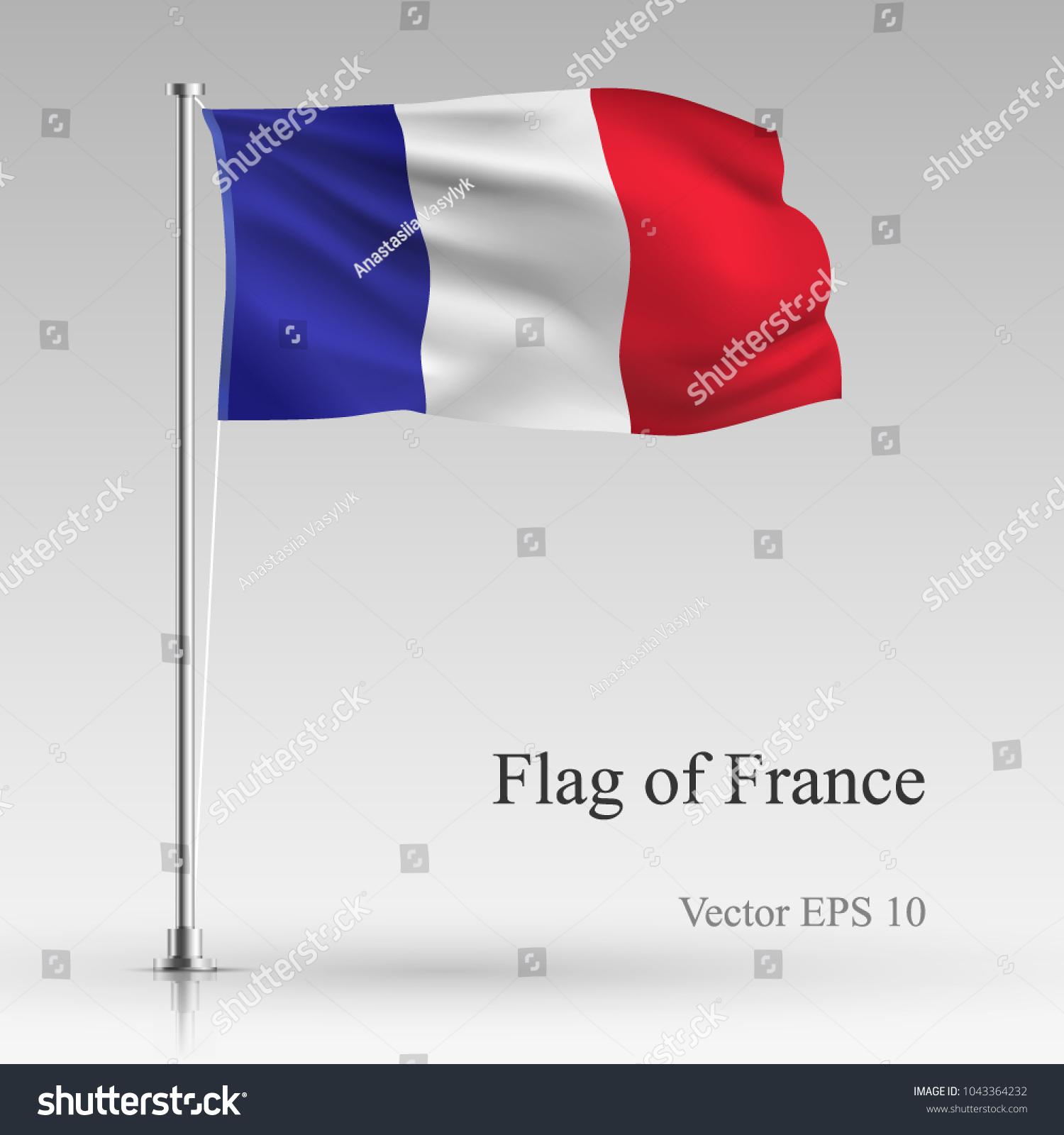 National Flag France Isolated On Gray Stock-Vektorgrafik (Lizenzfrei ...