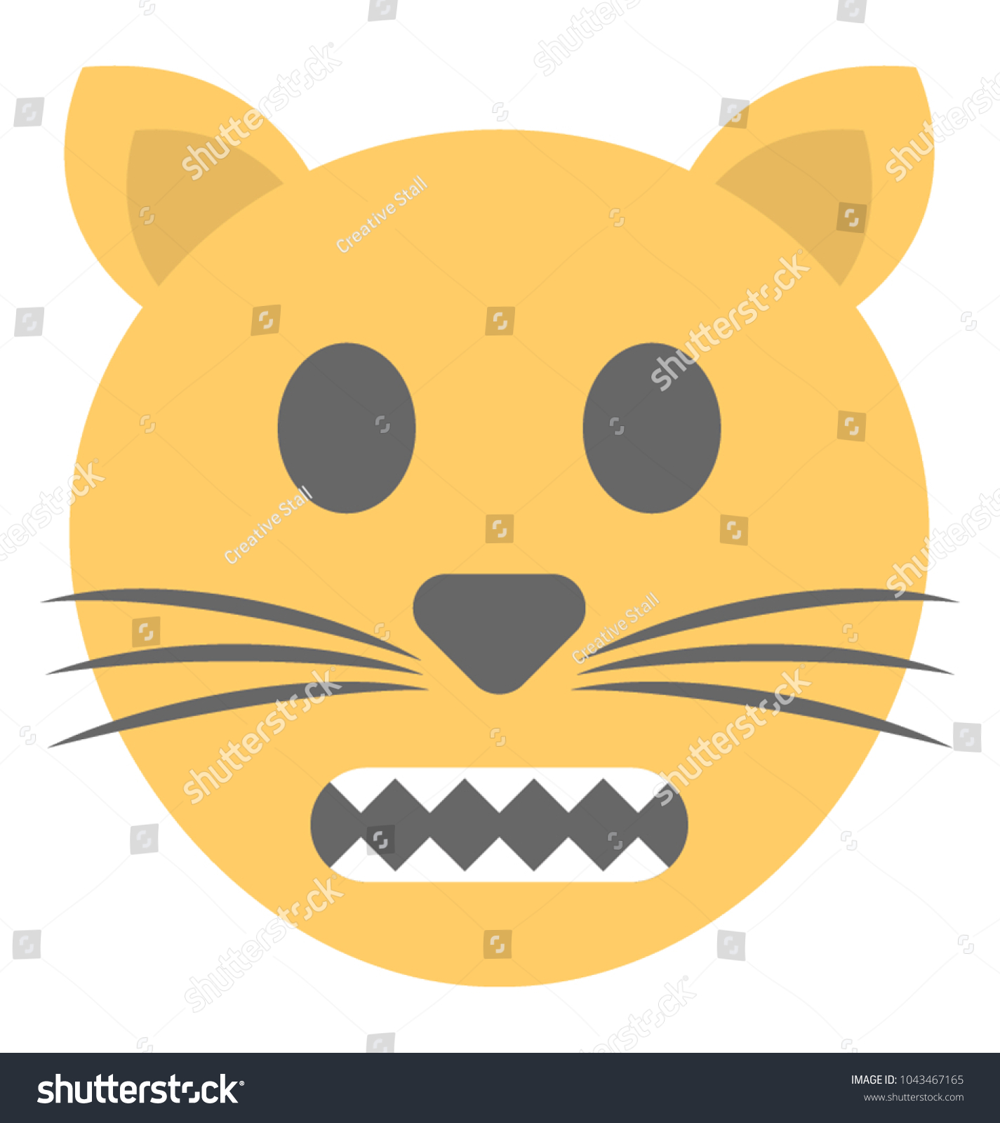 A Smiley With Whiskers Symbolising Cat Emoticon Ez Canvas