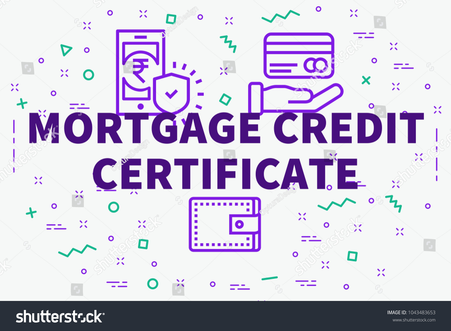 Conceptual Business Illustration Words Mortgage Credit Stock