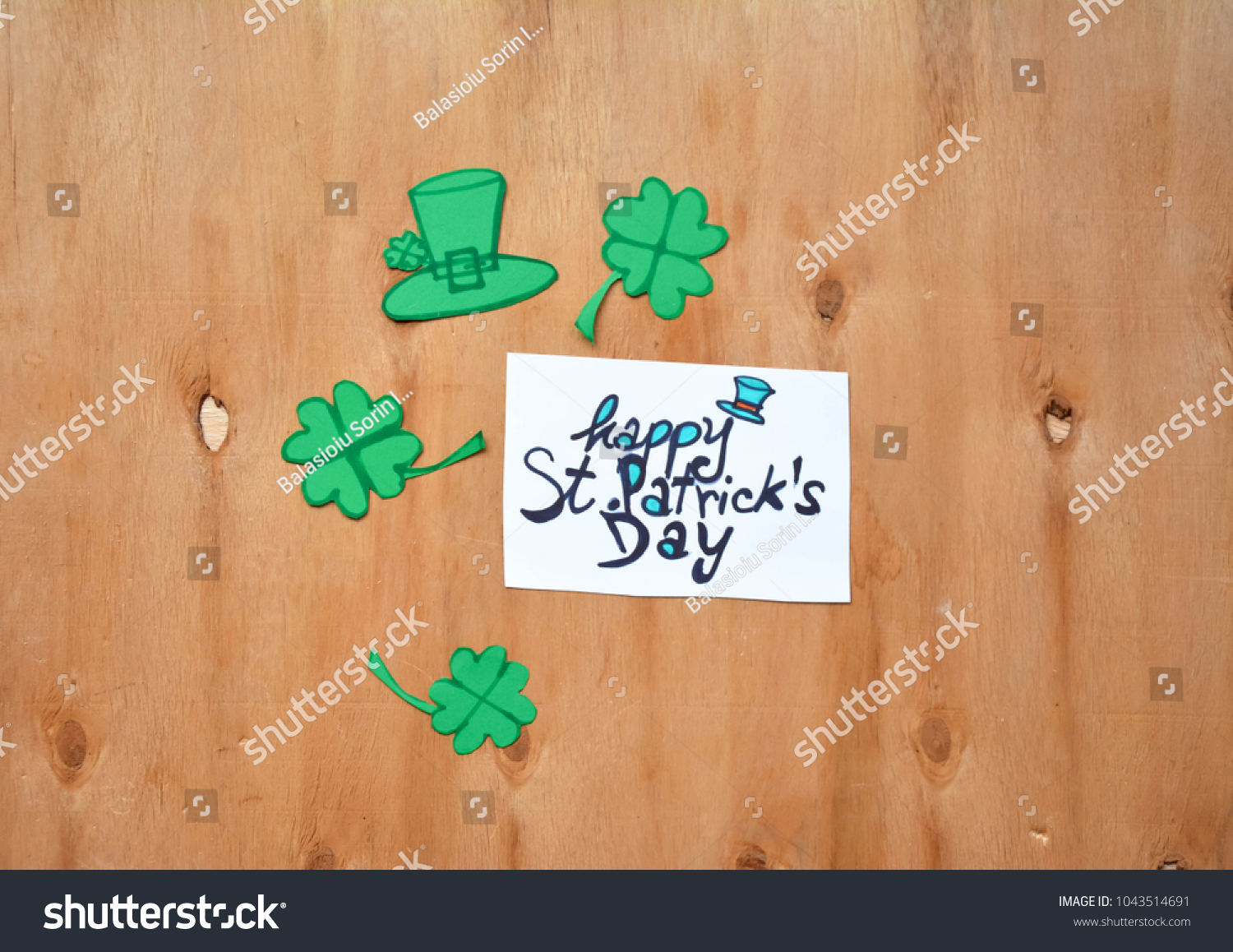 St Patricks Day Background Happy St Stock Photo (Edit Now