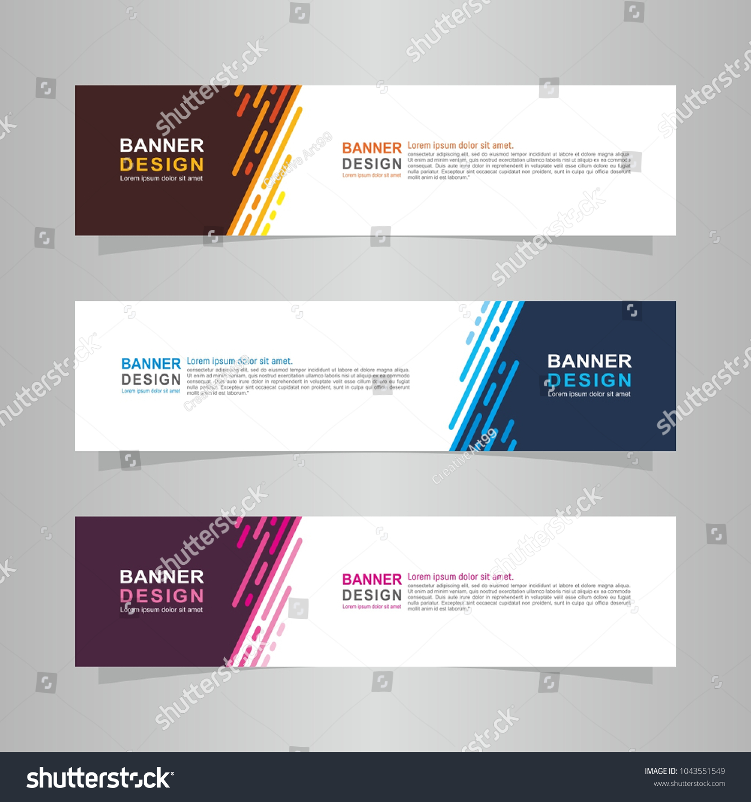 Vector abstract web banner background design template. | EZ Canvas