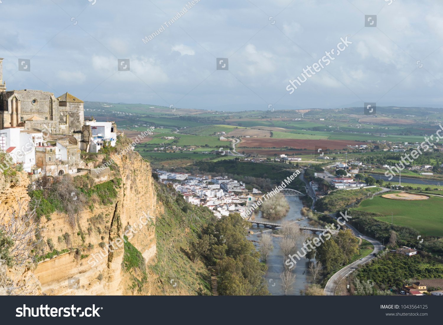 Fields of Arcos de la Frontera, image taken from the hill where the city is