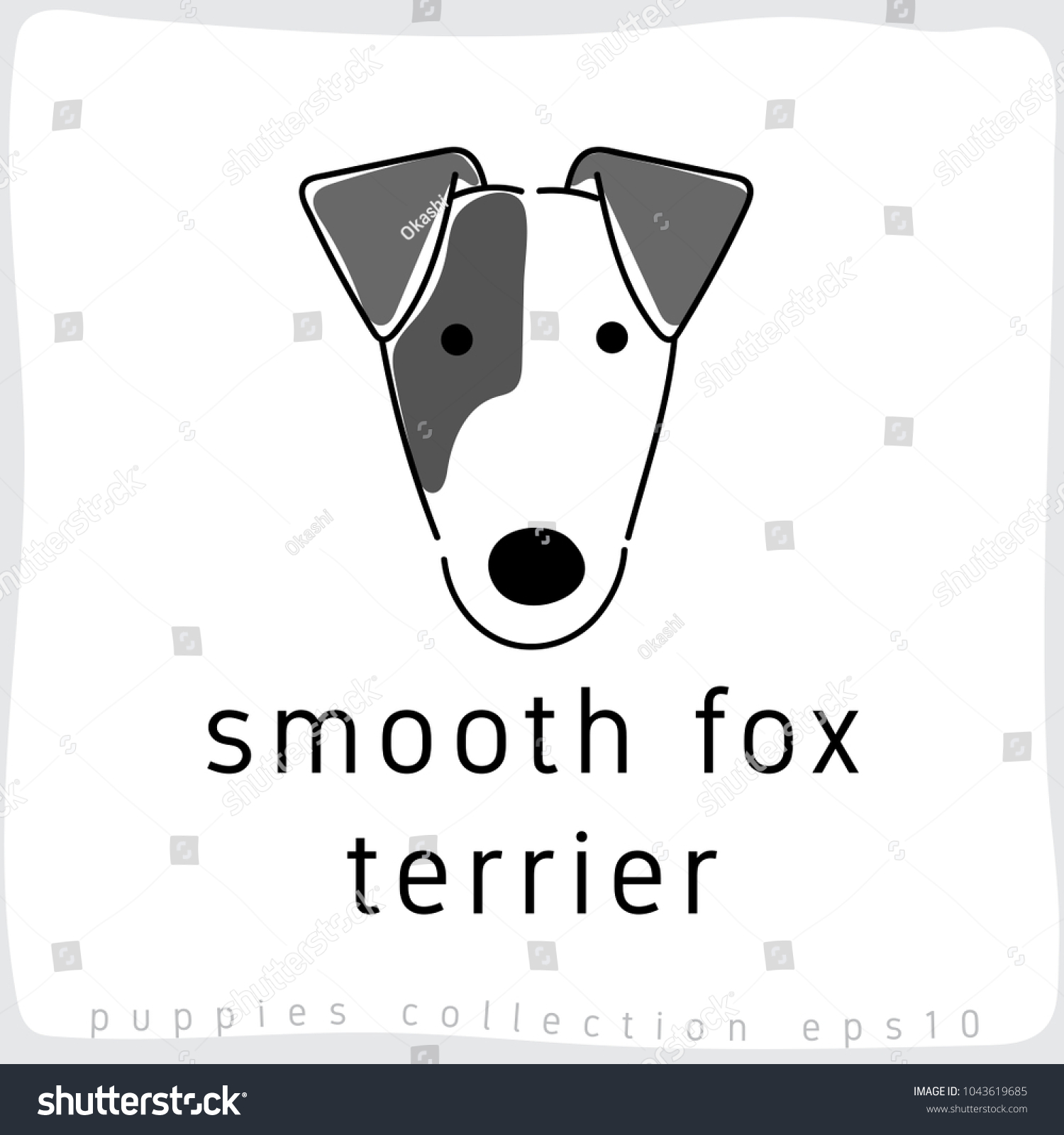Smooth Fox Terrier Dog Breed Collection Stock Vector 1043619685 ...