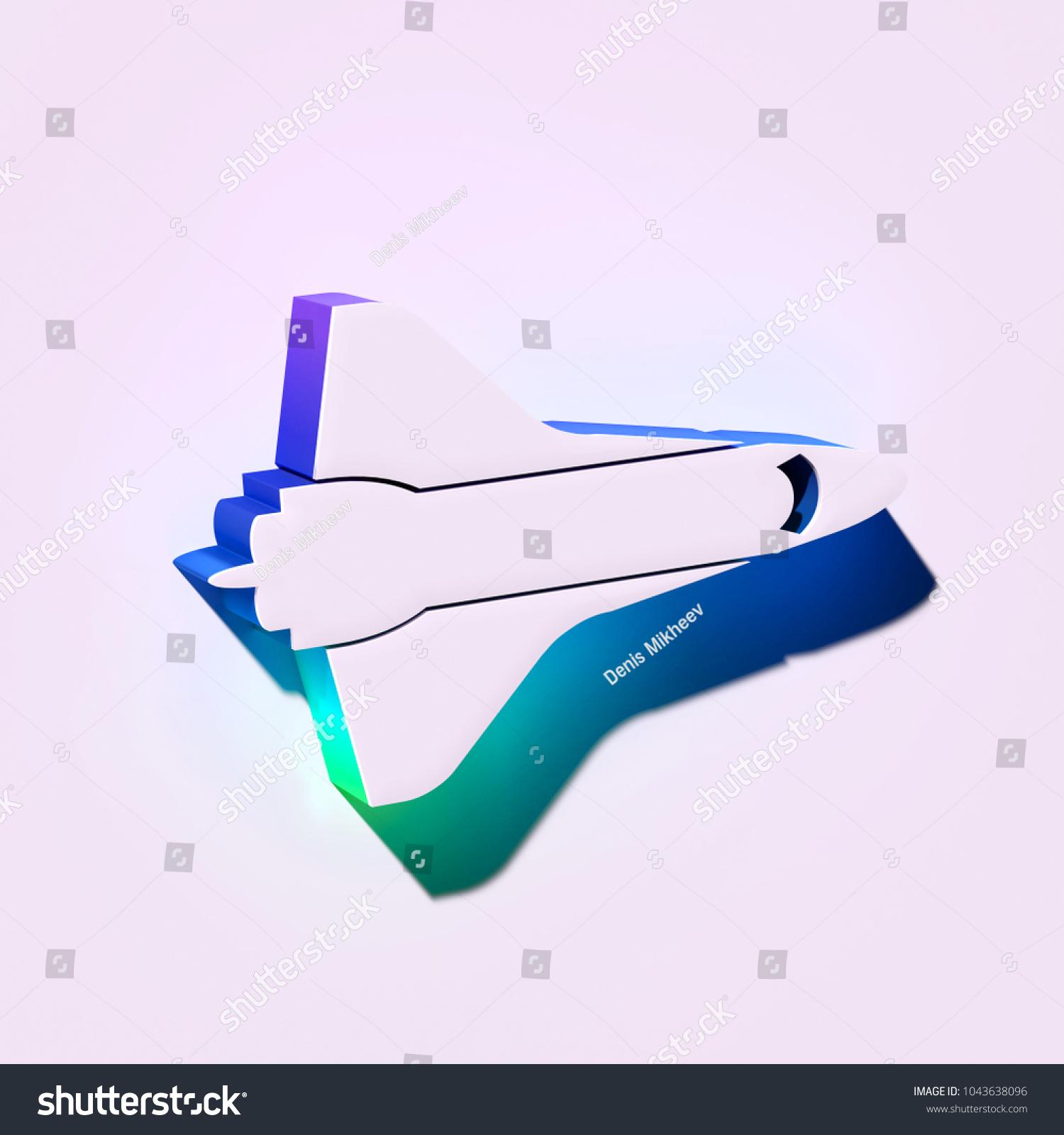 Stupendous White Fighter Jet Icon 3 D Illustration Stock Illustration Royalty Wiring Digital Resources Funapmognl