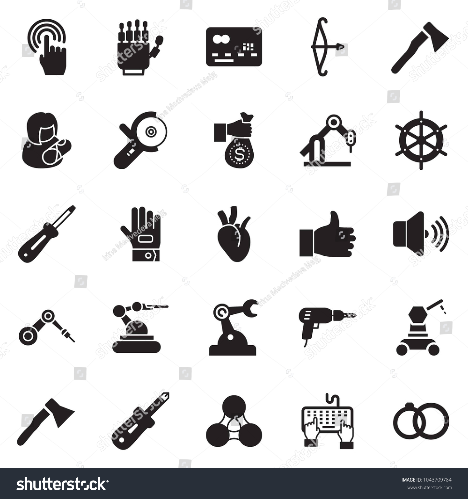 Solid black vector icon set keyboard stock vector 1043709784 solid black vector icon set keyboard hand vector credit card investment drill buycottarizona Image collections