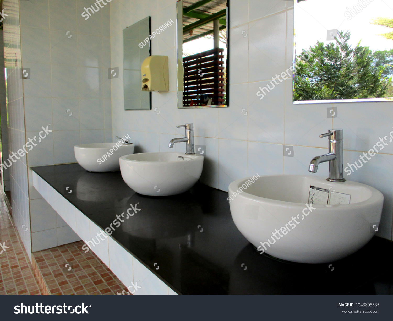 Sanitary Ware Sinks Faucets Clean Dirt Stock Photo (Edit Now ...