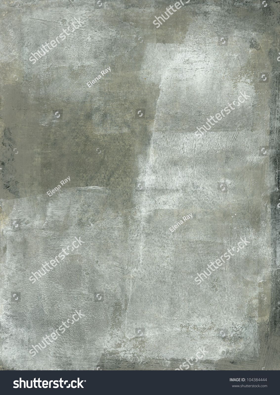 Abstract Painting Subtle Gray White Tones Stock Photo