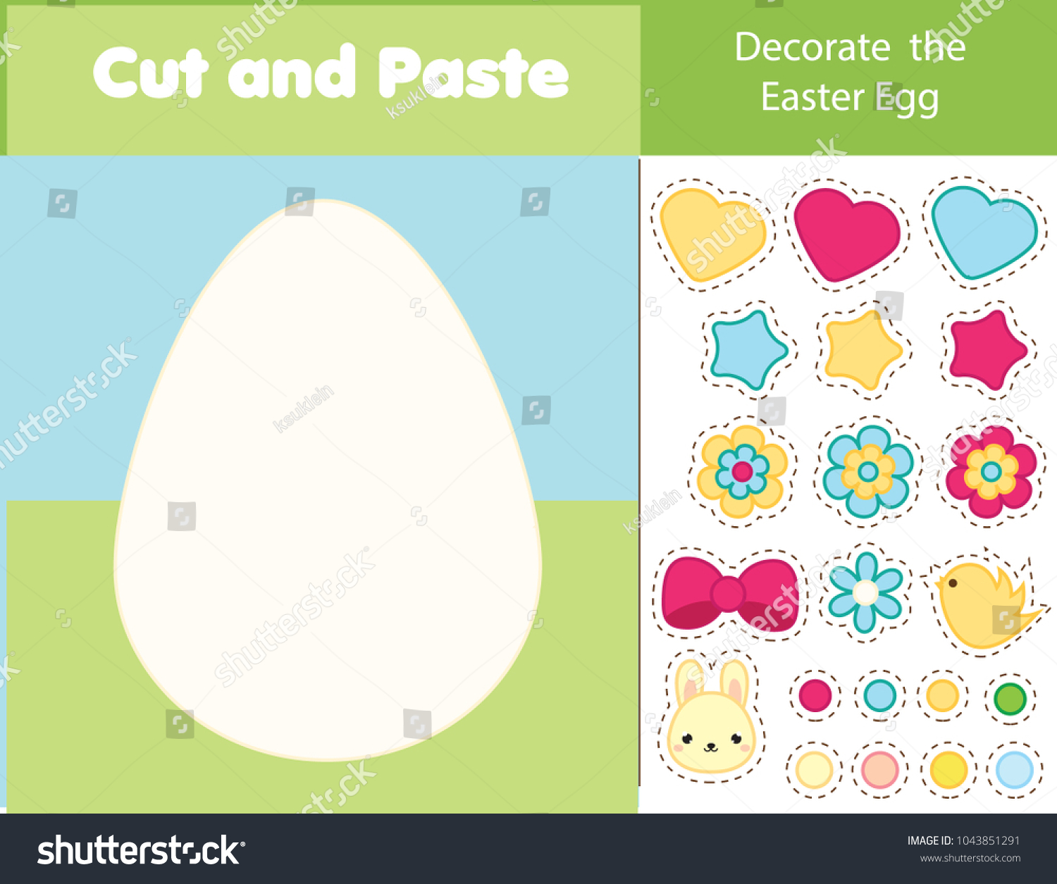 Easter Game Children Educational Game Cut Stock Vector (Royalty Free ...