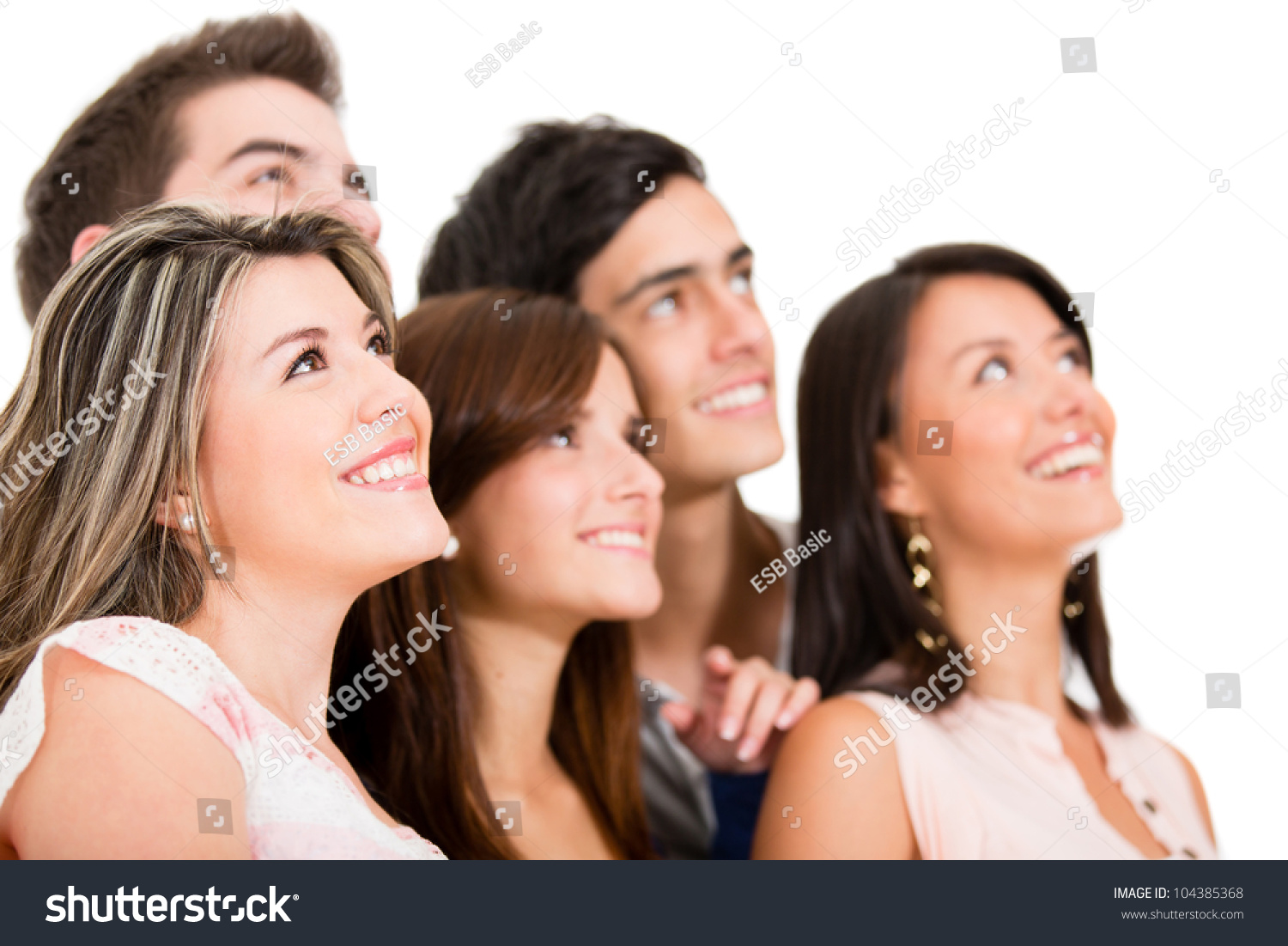Group Of People Daydreaming