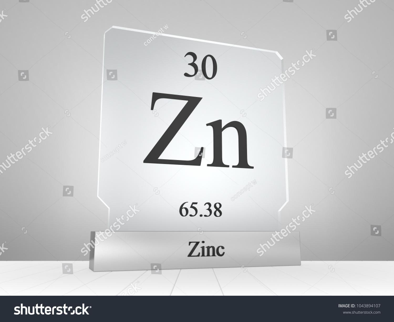 Zinc symbol on modern glass metal stock illustration 1043894107 zinc symbol on modern glass and metal icon 3d render buycottarizona Gallery