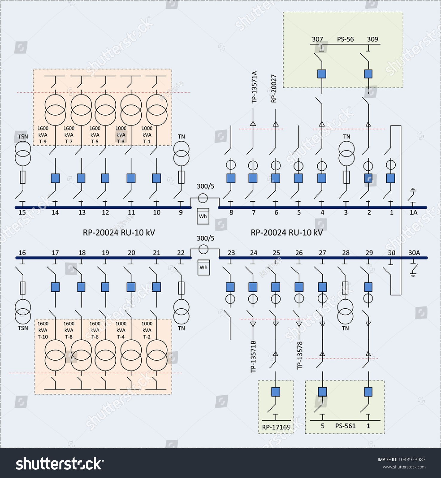 Electric Wiring Diagram Power Transformers Stock Vector Royalty Transformer For