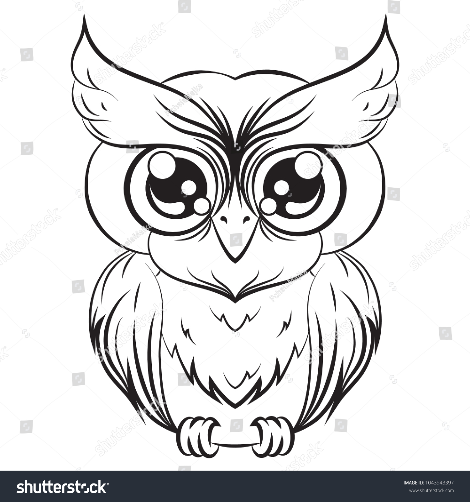 Decorative Owl Owl Logo Tribal Pattern Stock Vector (Royalty Free ...