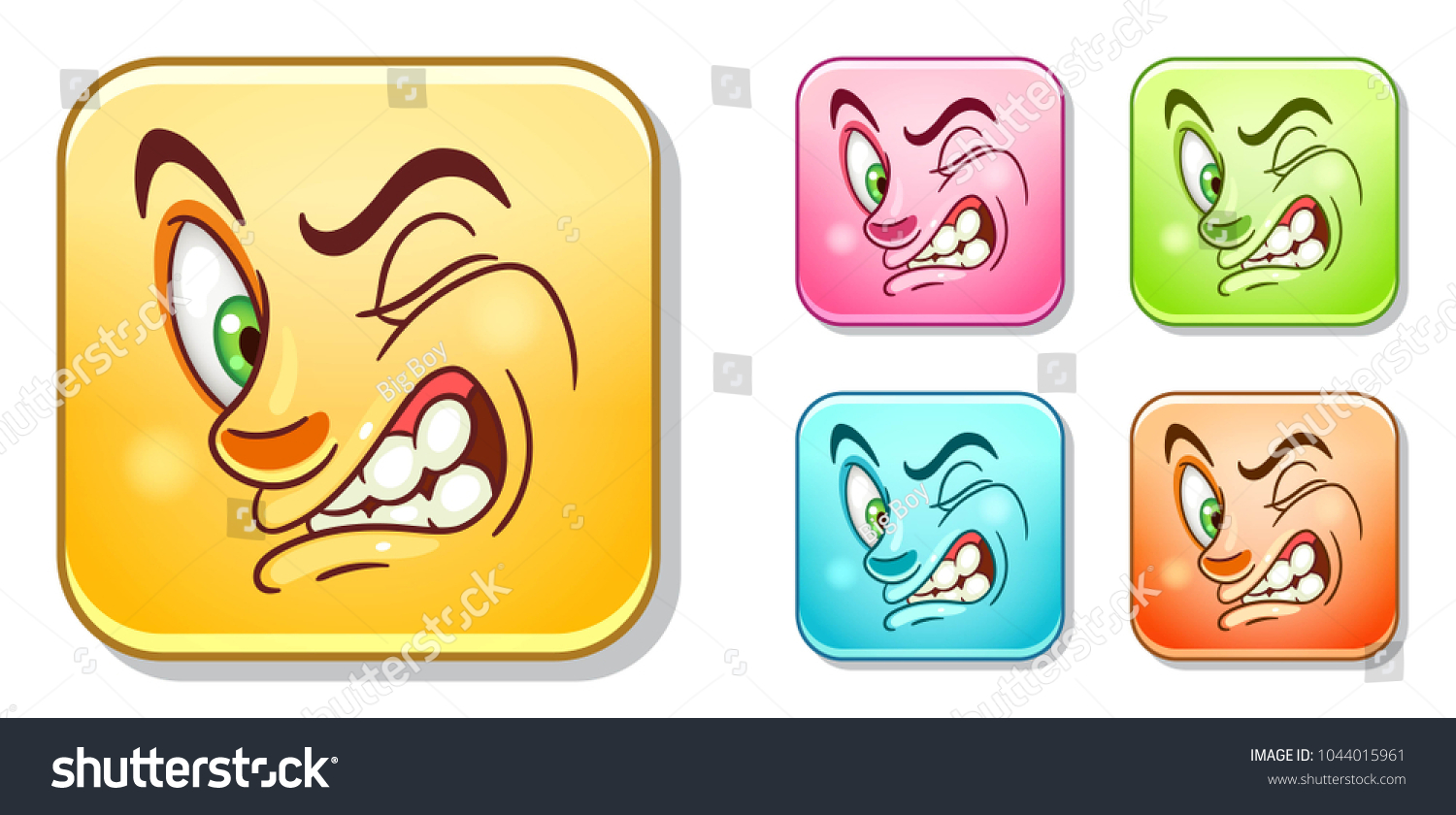 Dislike and disgusting emoji face emoticons collection colorful smiley set avatar symbol