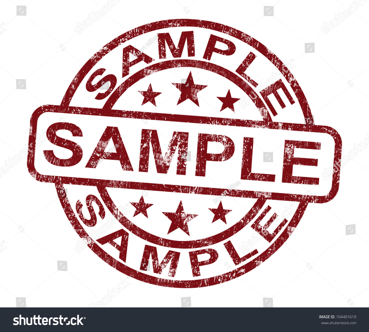 sample stamp showing example symbol taste stock illustration