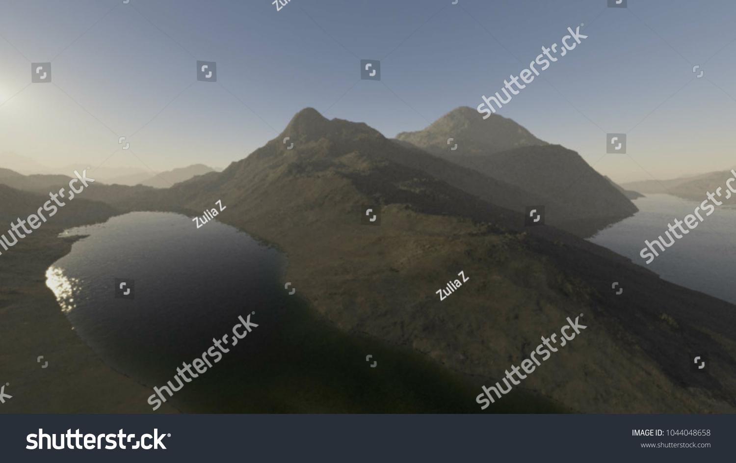 stock photo scenic views of the mountains d illustration with a fantastically beautiful view wallpapers for 1044048658