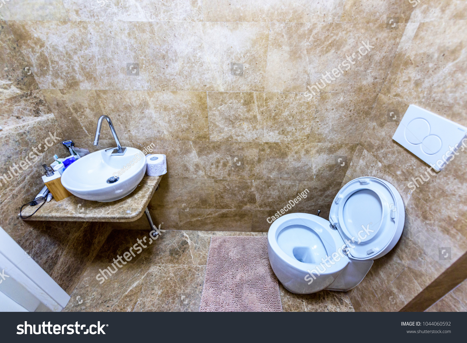 Bathroom Interior Sink Wc Closet Wide Stock Photo (Royalty Free ...