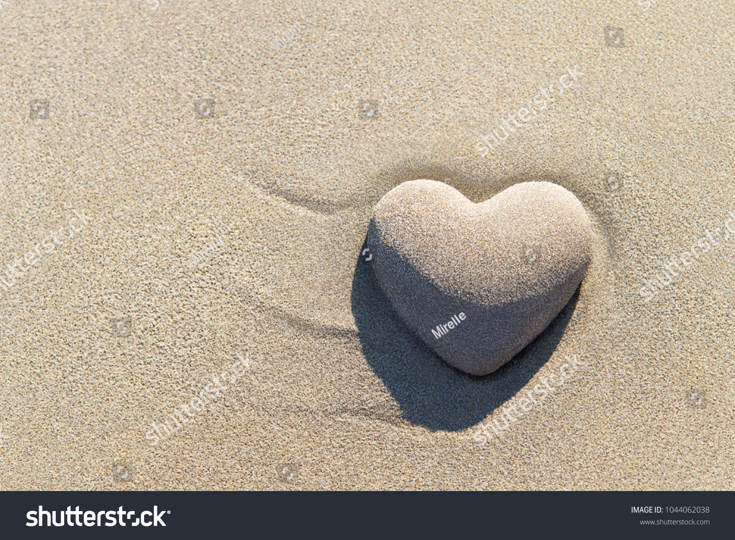 Heart made sand shadow on sandy stock photo 1044062038 shutterstock heart made of sand with shadow on sandy beach background saint valentines day greeting cards kristyandbryce Images