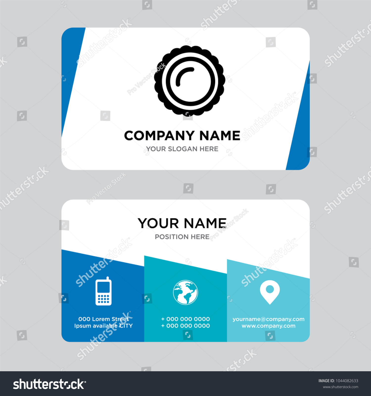 Saw round business card design template stock vector hd royalty saw round business card design template visiting for your company modern creative and clean flashek Image collections
