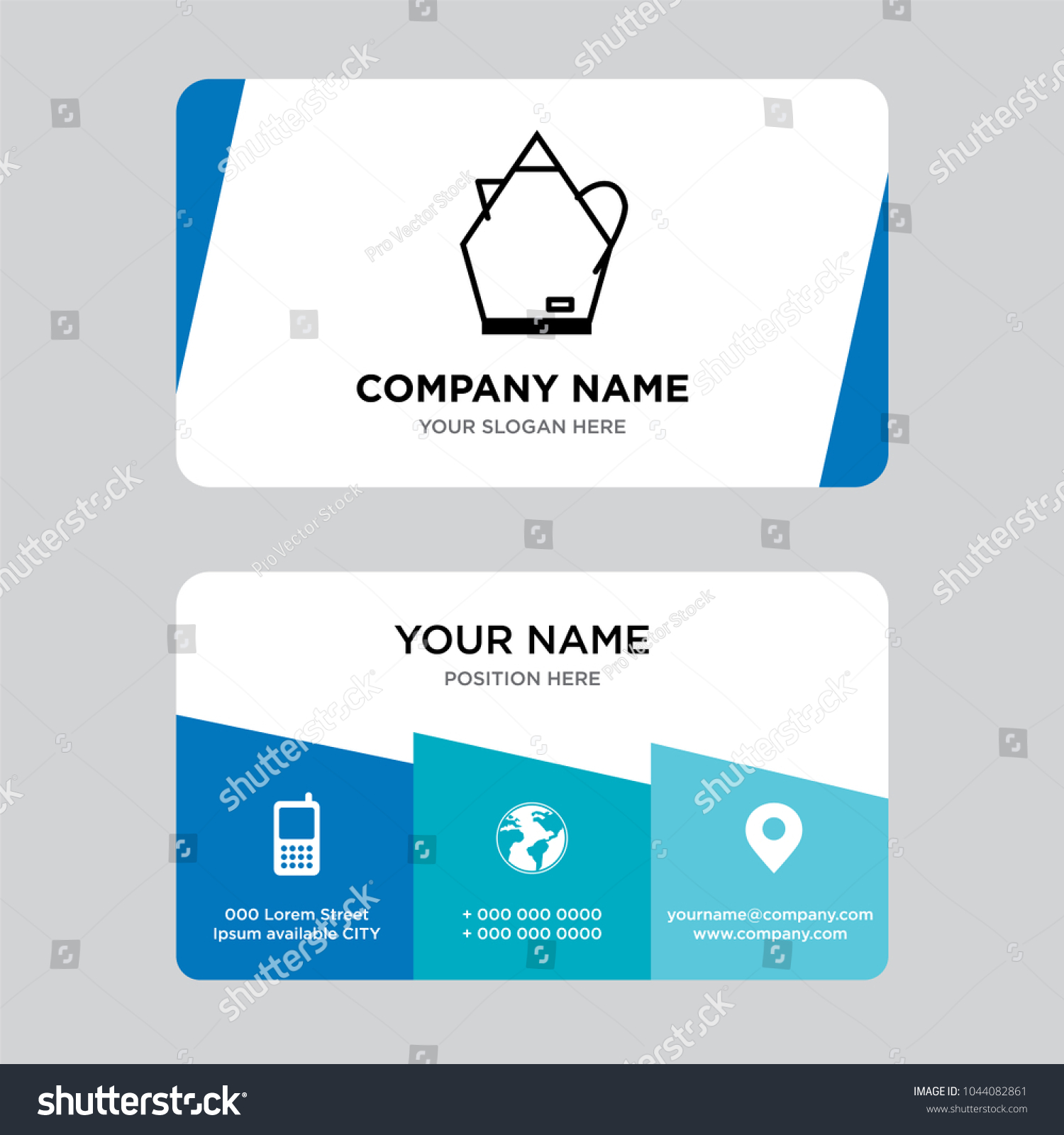Electric water boiler business card design stock vector 1044082861 an electric water boiler business card design template visiting for your company modern creative reheart Image collections