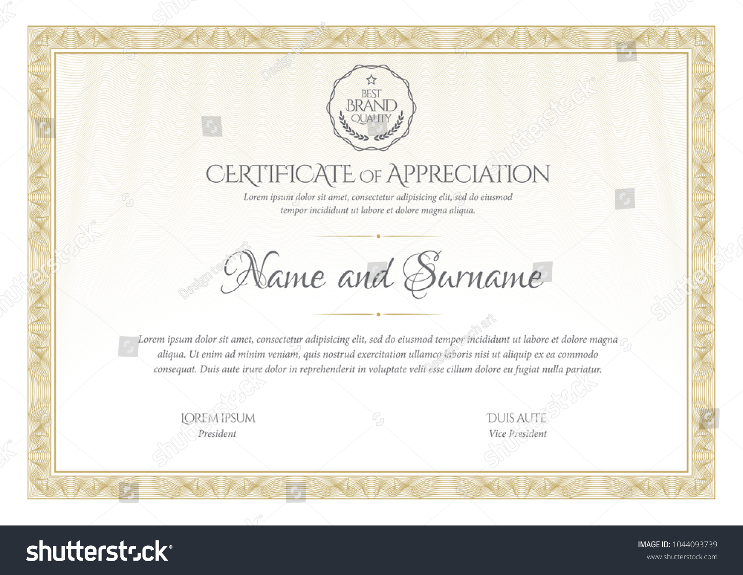 Certificate template diploma currency border award certificate template diploma currency border award background gift voucher vector illustration yelopaper Images