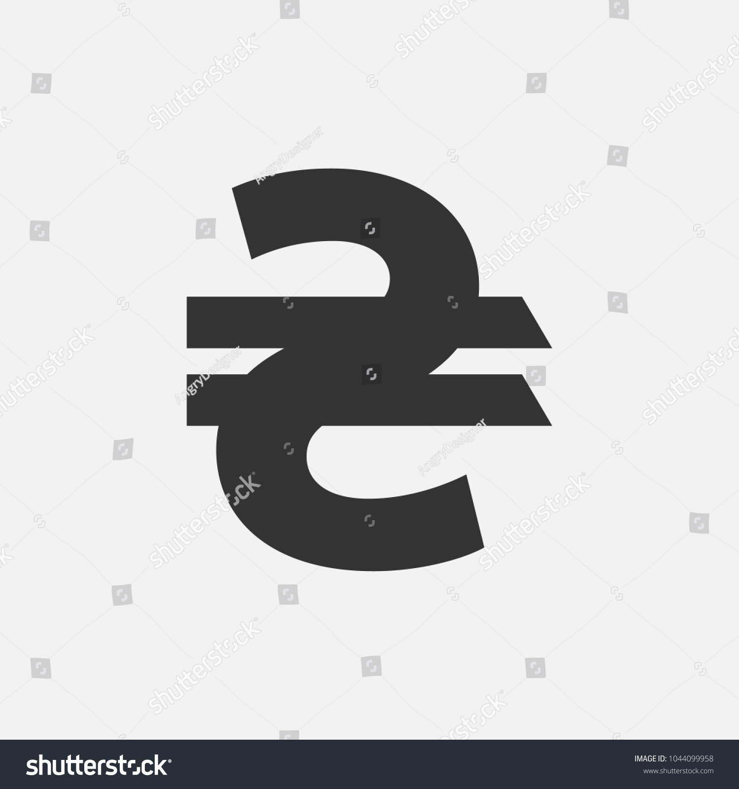 Uah Ukraine Hryvnia Sign Money National Stock Vector Royalty Free
