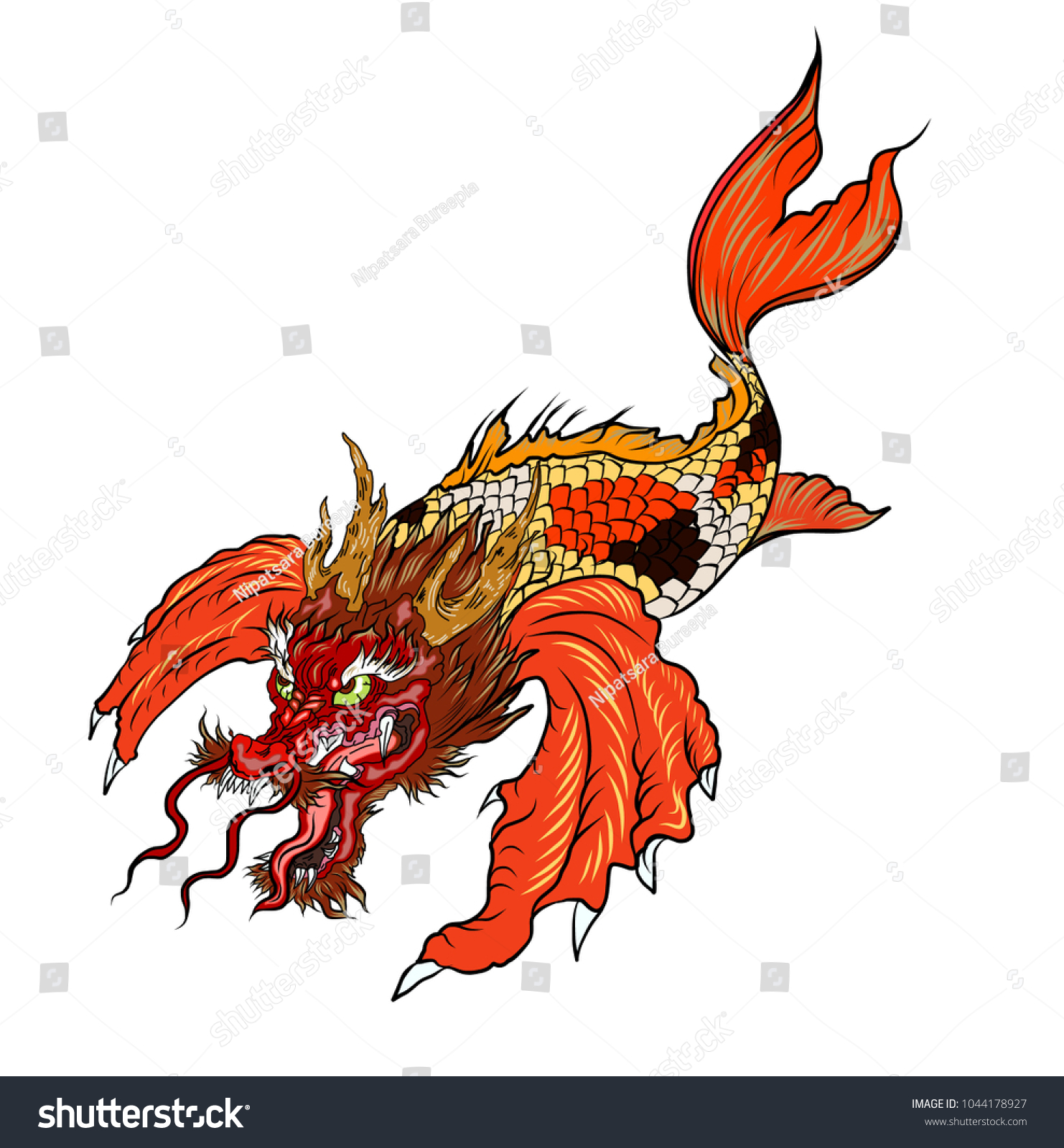 Dragon Carp Fish Photos >> Free Dragon Carp Art Prints And Wall ...