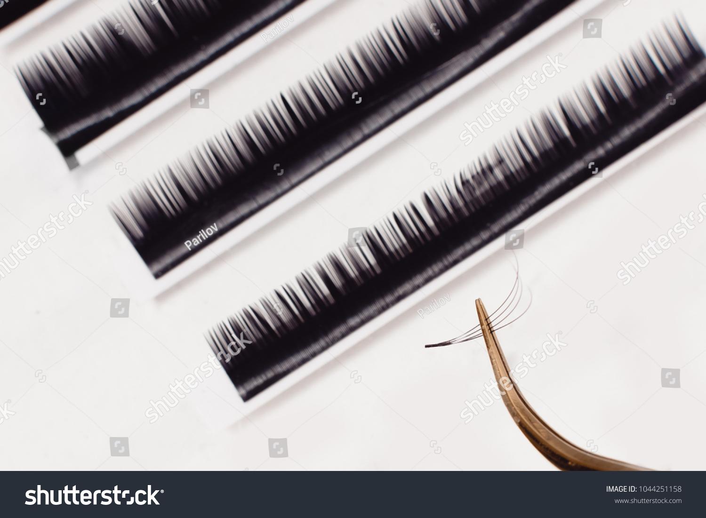 Set Eyelash Extension Tools Isolated Background Stock Photo Edit