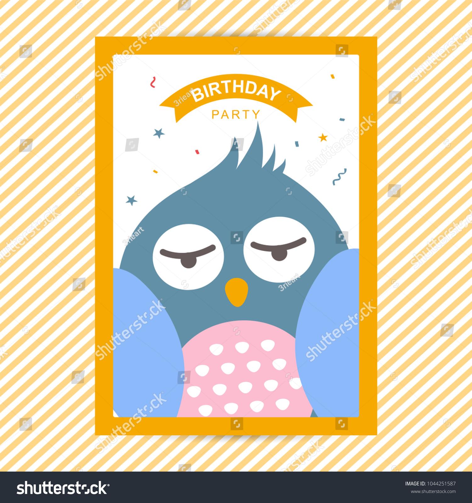 Happy Birthday Flyer Template Stock Vector Royalty Free 1044251587