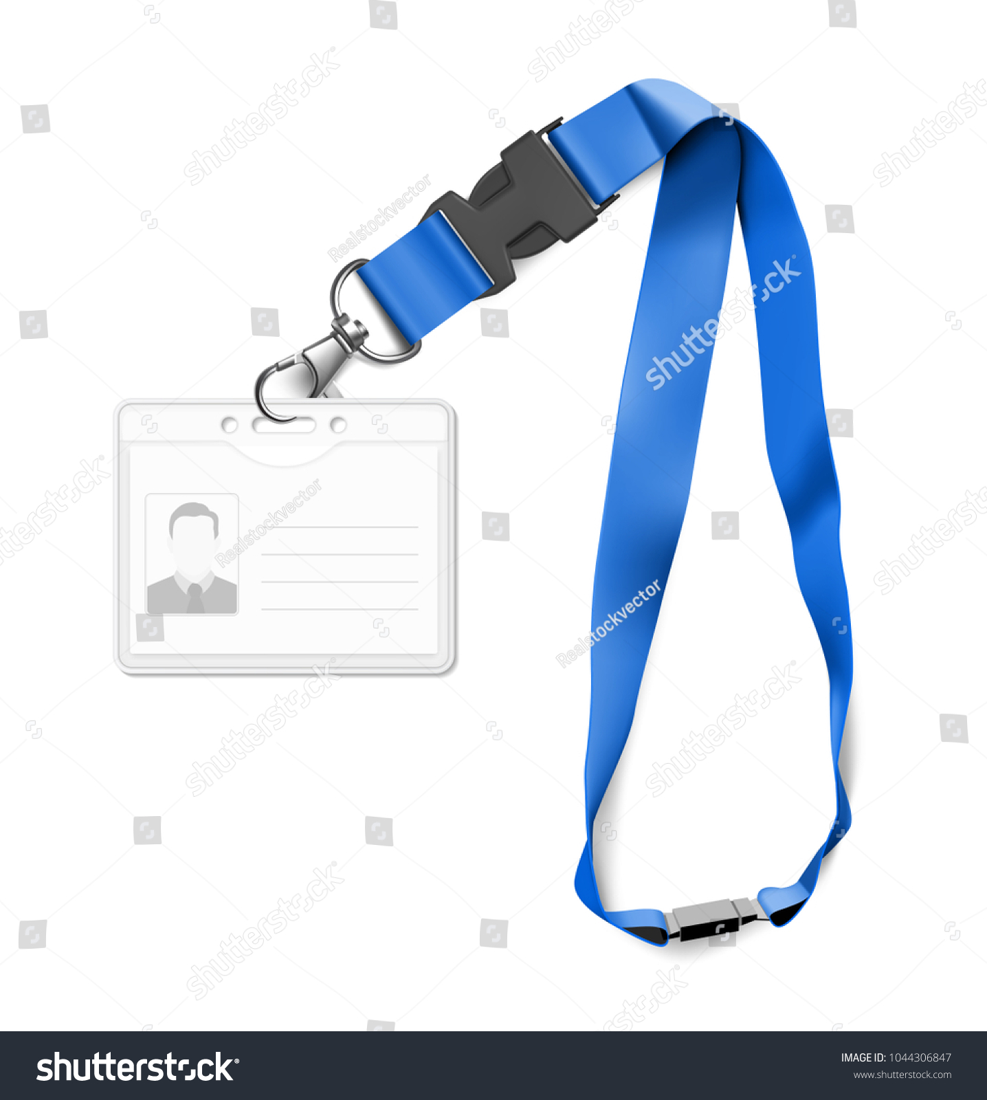 Set Lanyard Id Card Vector Illustration Stock Vector HD Royalty - Free lanyard template