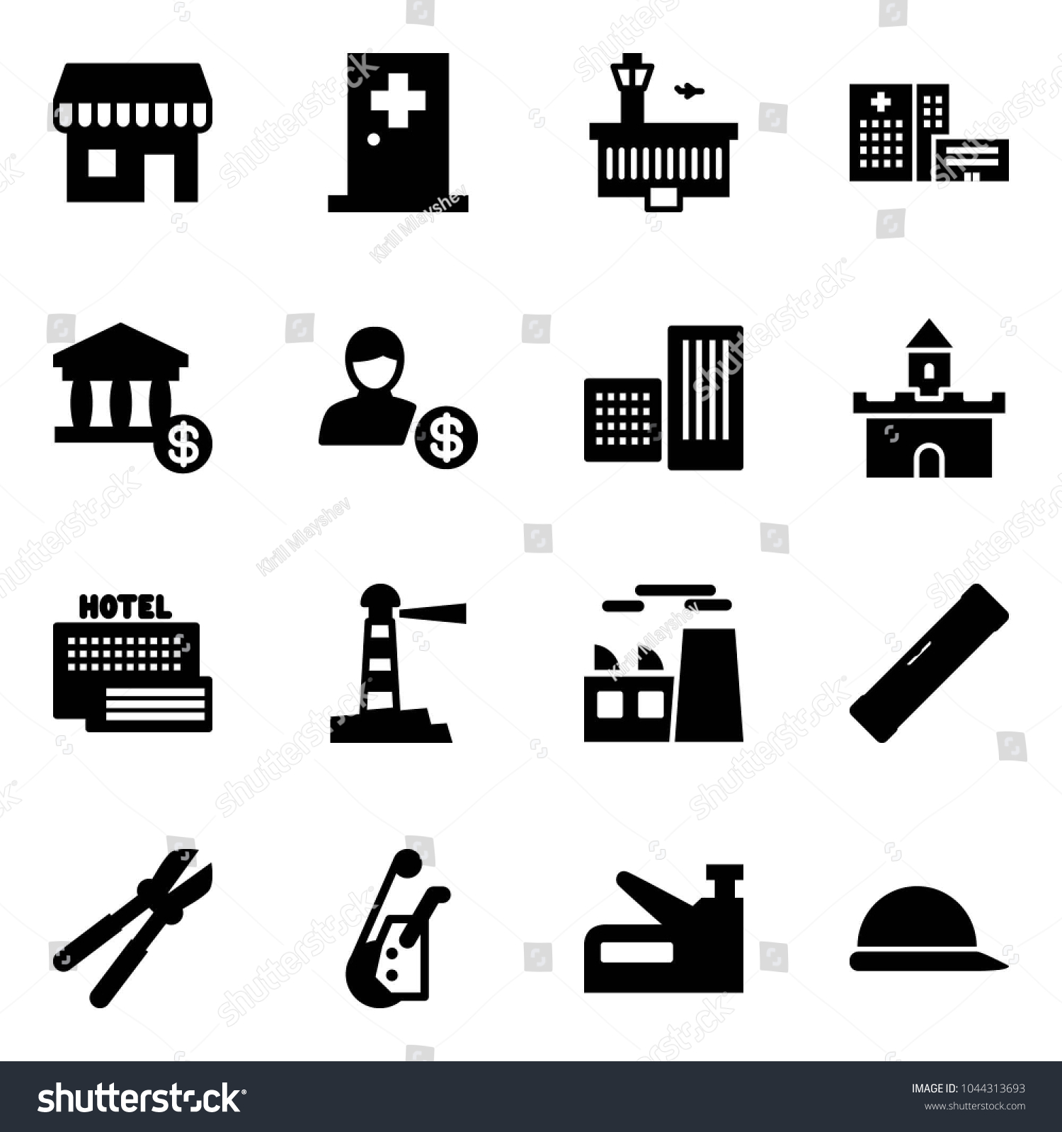 solid vector icon set duty free stock vector royalty free