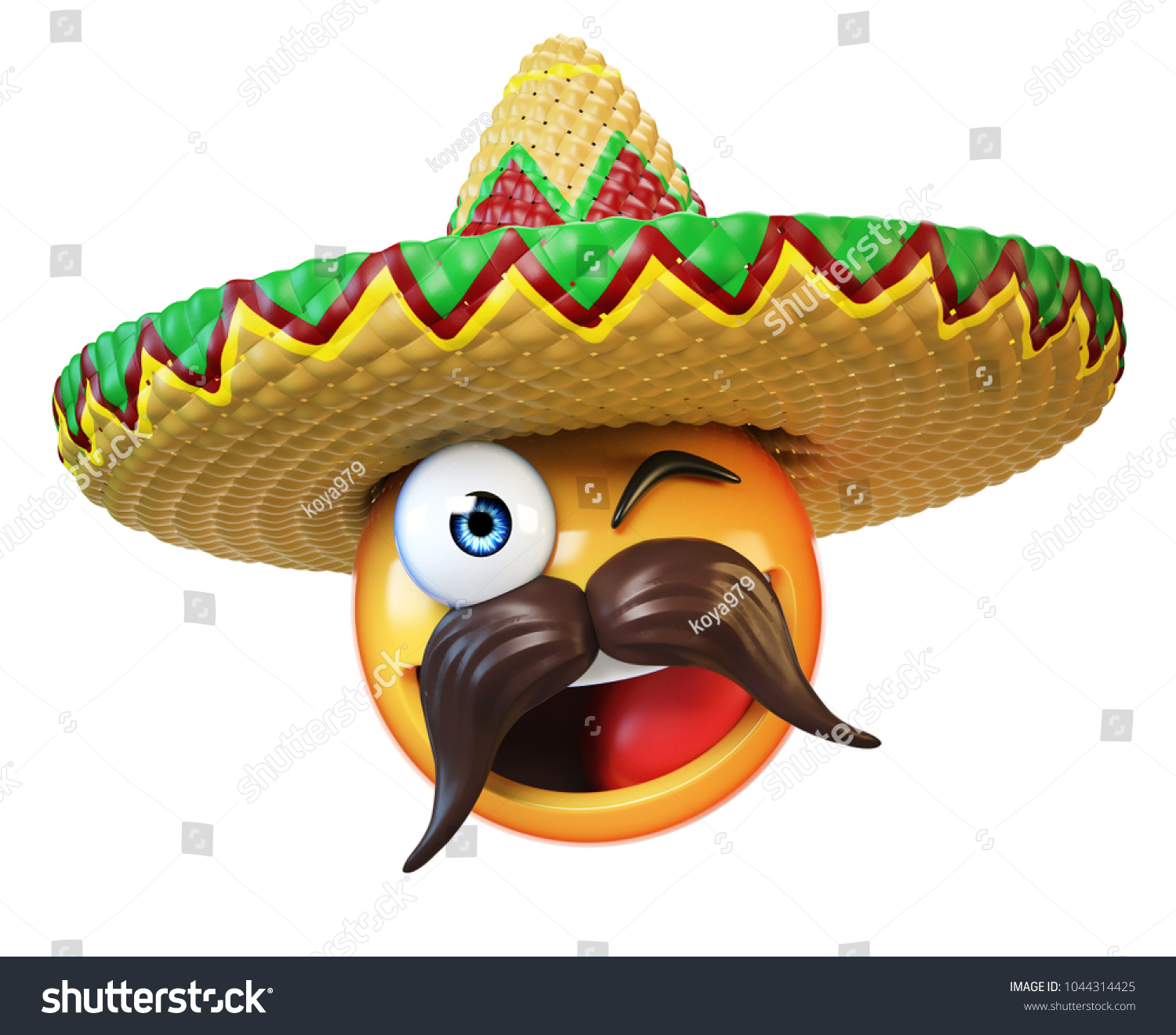 Mexican Emoji Isolated On White Background Ilustración de ... a4f083f1fa8