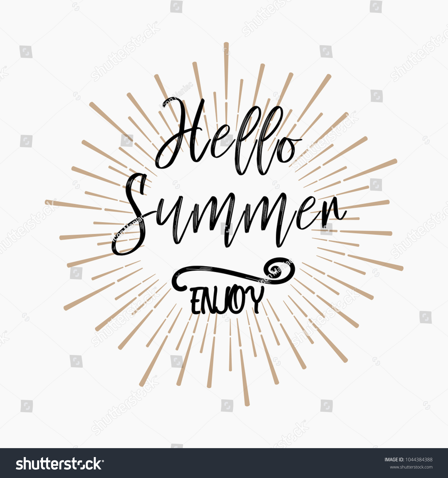 Hello Summer Enjoy Inspirational Quotes About Stock Vector Royalty