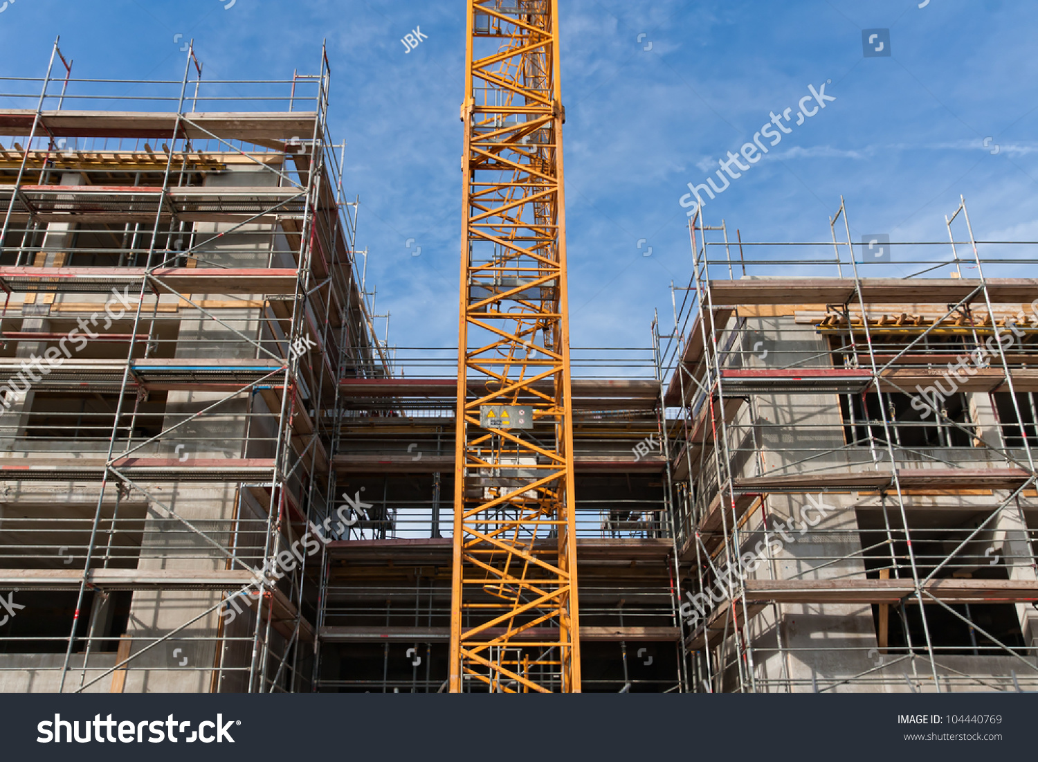 Large Construction Site Scaffolding Building Yellow Stock Photo 104440769 Shutterstock